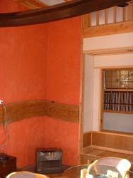 暖炉壁ベンガラ2